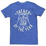 "Men's Star Wars Vader ""Father of the Year"" Graphic Tee"