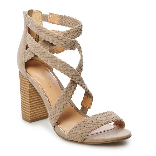 LC Lauren Conrad Aventurine Women's High Heel Sandals