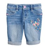 Girls 4-12 SONOMA Goods for Life® Embroidered Butterfly Bermuda Shorts