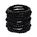 Simply Vera Vera Wang Black Beaded Multi Row Stretch Bracelet