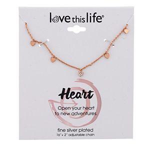 LovethisLife® Cubic Zirconia Heart Charm Necklace