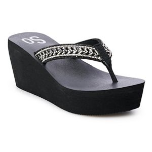 SO® Bubbly Women's Wedge Sandals