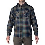 Men's Smith's Workwear Extended Tail Plaid Flannel Button-Down Shirt