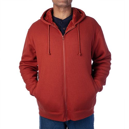 Smiths Workwear Mens Sherpa-Bonded Thermal Knit Henley Pullover Henley Shirt