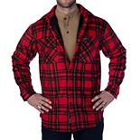 Men's Smith's Workwear Sherpa-Lined Plaid Microfleece Shirt Jacket