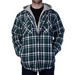 Men's Smith's Workwear Fleece-Lined Hooded Flannel Jacket
