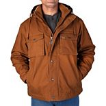 Smith's Workwear Sherpa-Lined Duck Canvas Hooded Work Jacket