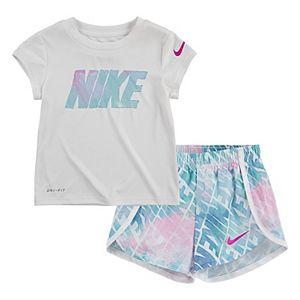 Toddler Girl Nike Dri-FIT Tee & Sprinter Shorts Set