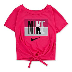Toddler Girl Nike Short Sleeve Knot-Front Top