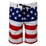 Boys 4-7 Hurley Patriotic Stars & Stripes Board Shorts