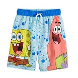 Boys 4-7 Spongebob Squarepants Swim Trunks