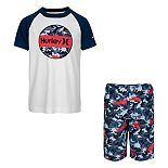 Boys 4-7 Hurley Dri-FIT UPF 50+ Shark Top & Board Shorts Set