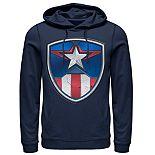 Men's Marvel Captain America Armor Suit Graphic Hoodie