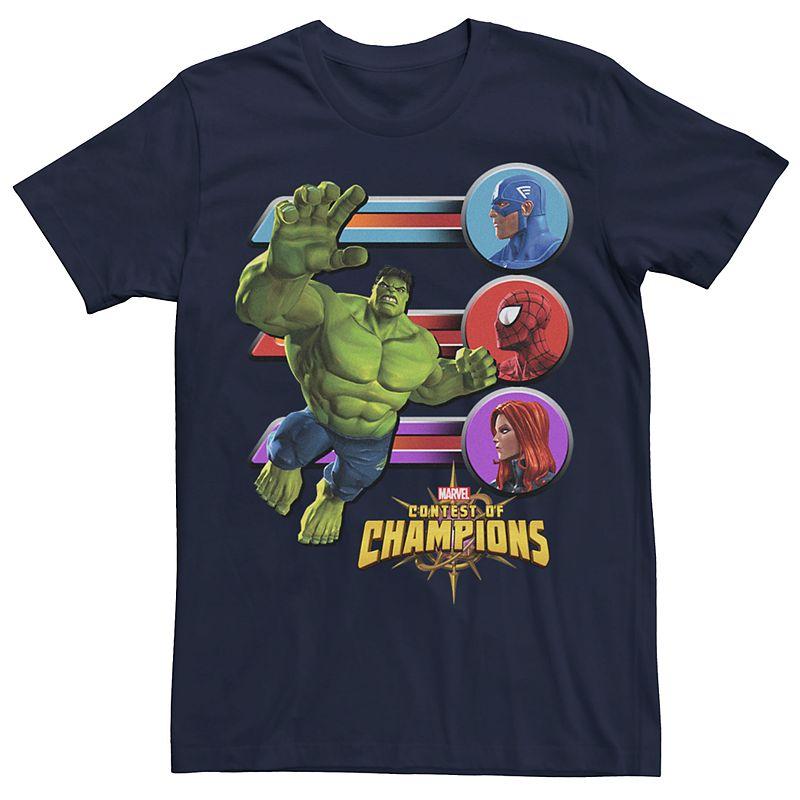Men's Marvel Contest of Champions Hulk Match Graphic Tee, Size: XXL, Blue