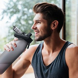 Wellness 48-oz. Sports Water Bottle with Carry Handle