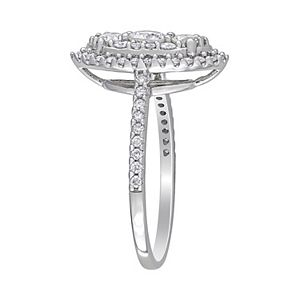 Lovemark 10k White Gold 1 Carat T.W. Diamond Marquise Engagement Ring