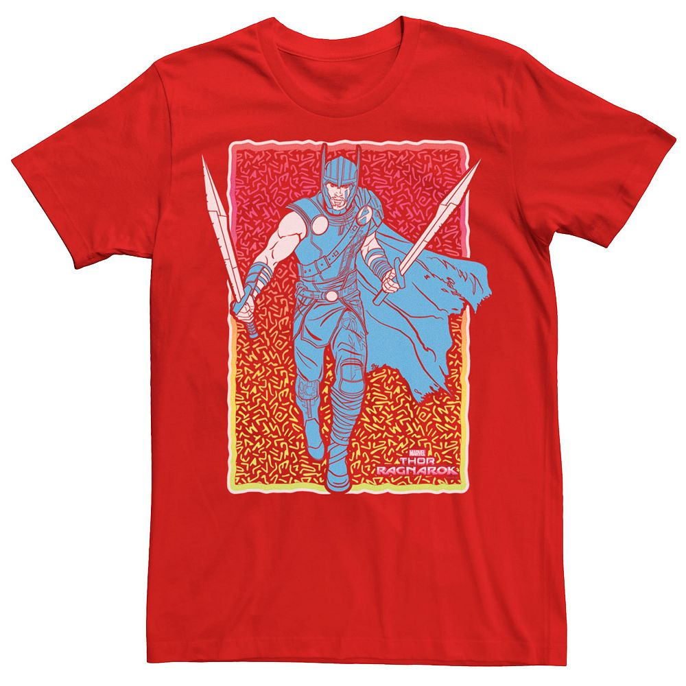 Men's Marvel Thor Ragnarok Thor Neon Portrait Graphic Tee