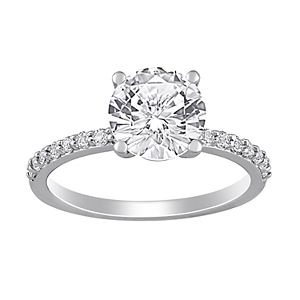 Stella Grace 10k White Gold Lab-Created White Sapphire Solitaire Ring