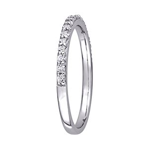 Stella Grace 10k White Gold Lab-Created White Sapphire Anniversary Ring