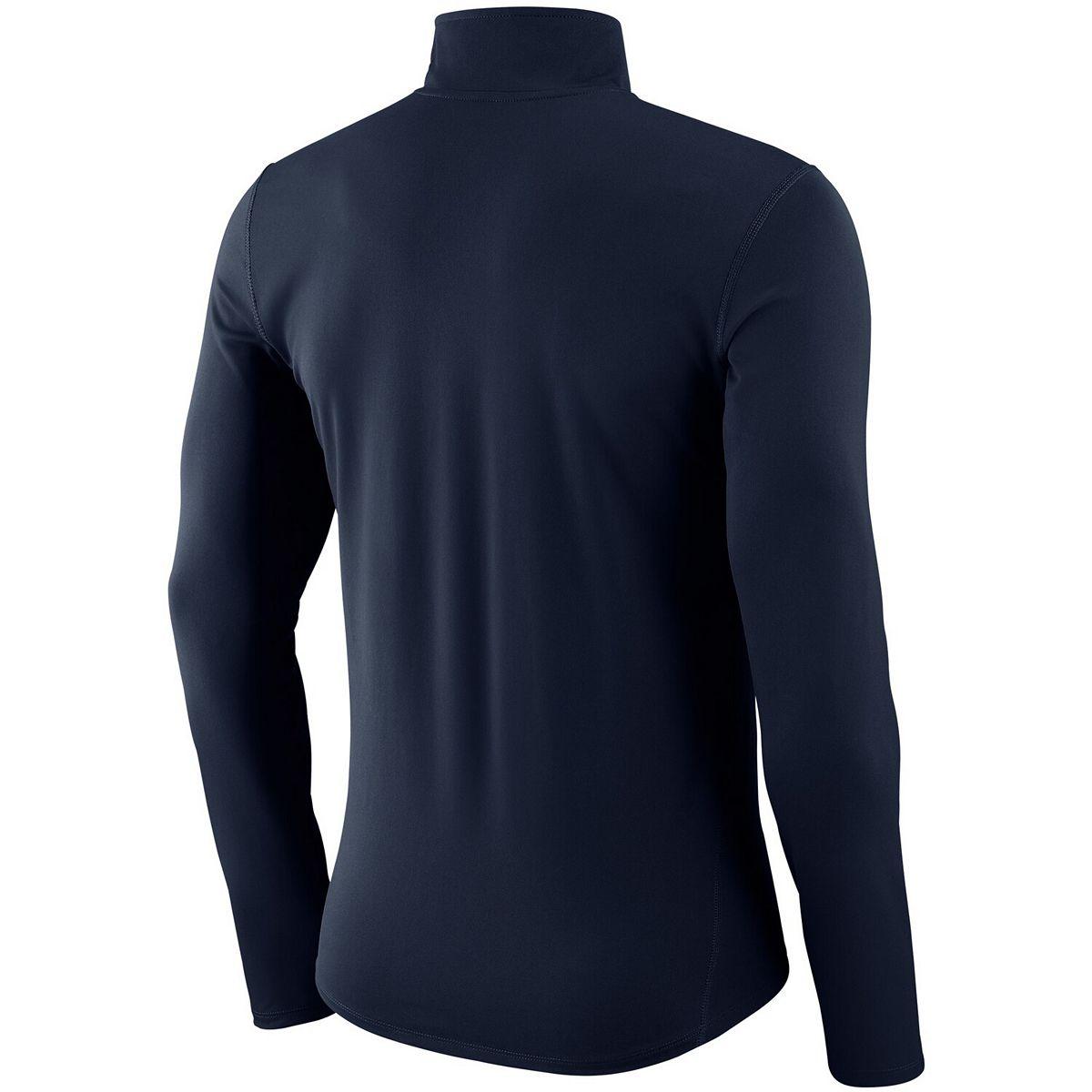 Men's Nike Navy Detroit Tigers Dry Element Half-Zip Performance Pullover QawLF
