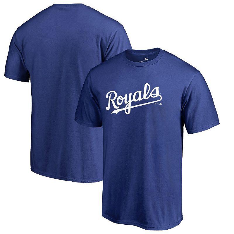 Men's Fanatics Branded Royal Kansas City Royals Big & Tall Team Wordmark T-Shirt, Size: 4XB, Blue