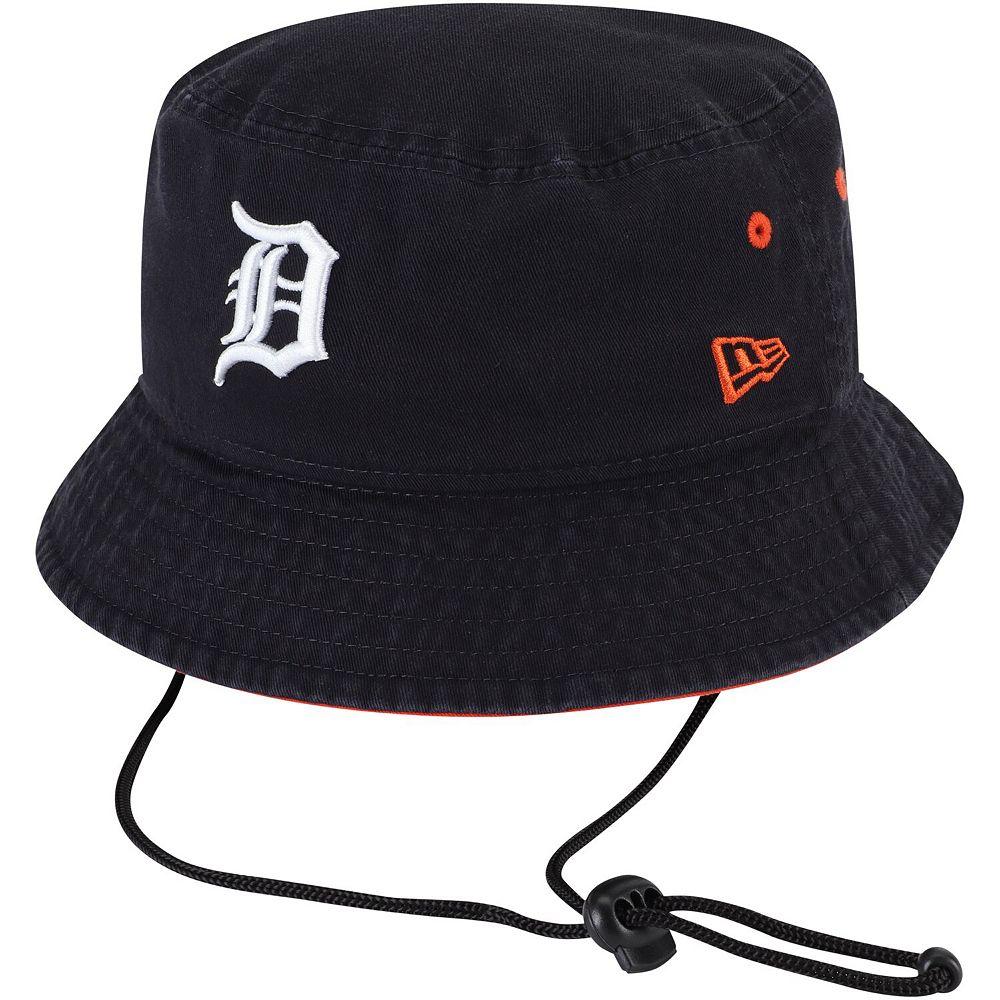 Men's New Era Navy Detroit Tigers Shoreline Bucket Hat