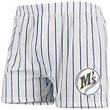 Men's Concepts Sport White Seattle Mariners Vigor Boxer Shorts