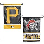 """WinCraft Pittsburgh Pirates 12"""" x 18"""" Double-Sided Garden Flag"""