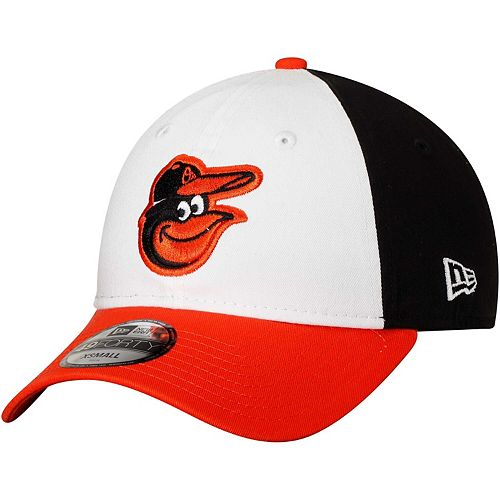 Men's New Era White/Orange Baltimore Orioles Core Fit Replica 49FORTY Fitted Hat