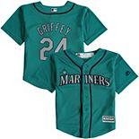 Toddler Majestic Ken Griffey Jr. Teal Seattle Mariners Alternate Official Cool Base Player Jersey
