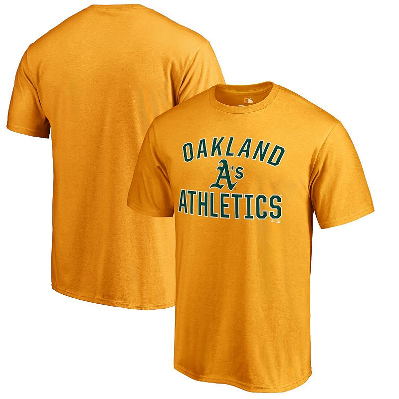Men's Gold Oakland Athletics Victory Arch T-Shirt, Size: Small