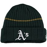 Youth New Era Green Oakland Athletics On-Field Sport Knit Hat