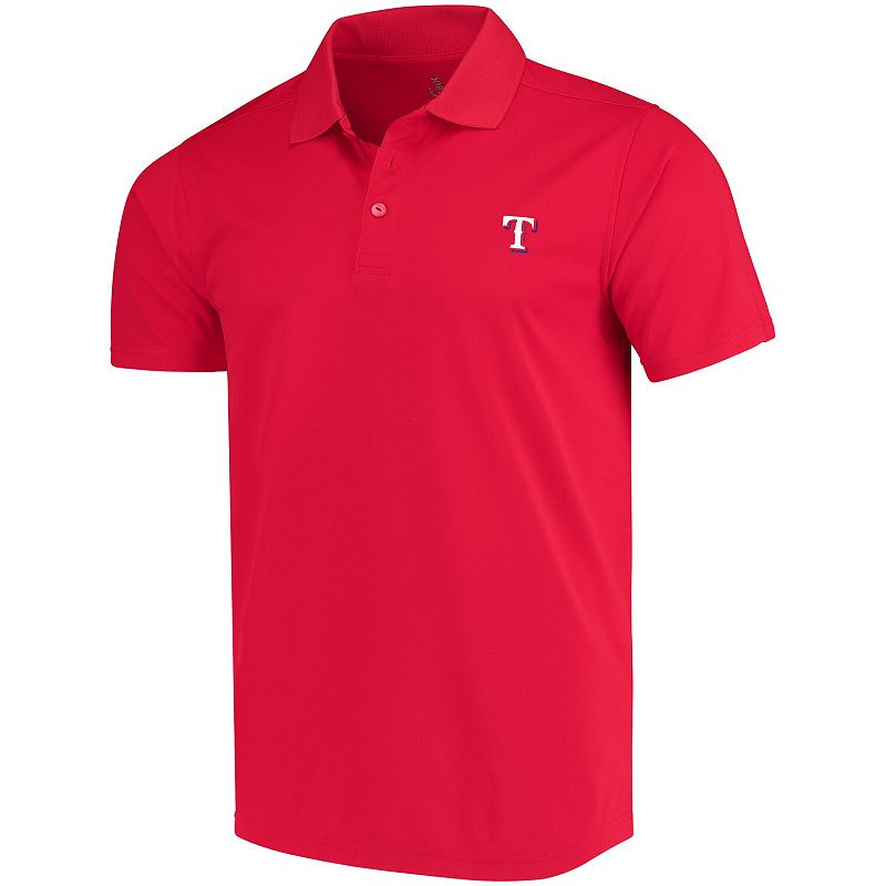 Men's CBUK by Cutter & Buck Red Texas Rangers DryTec Fairwood Polo, Size: Small