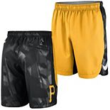 Men's Nike Gold Pittsburgh Pirates Authentic Collection Team Logo Performance Shorts