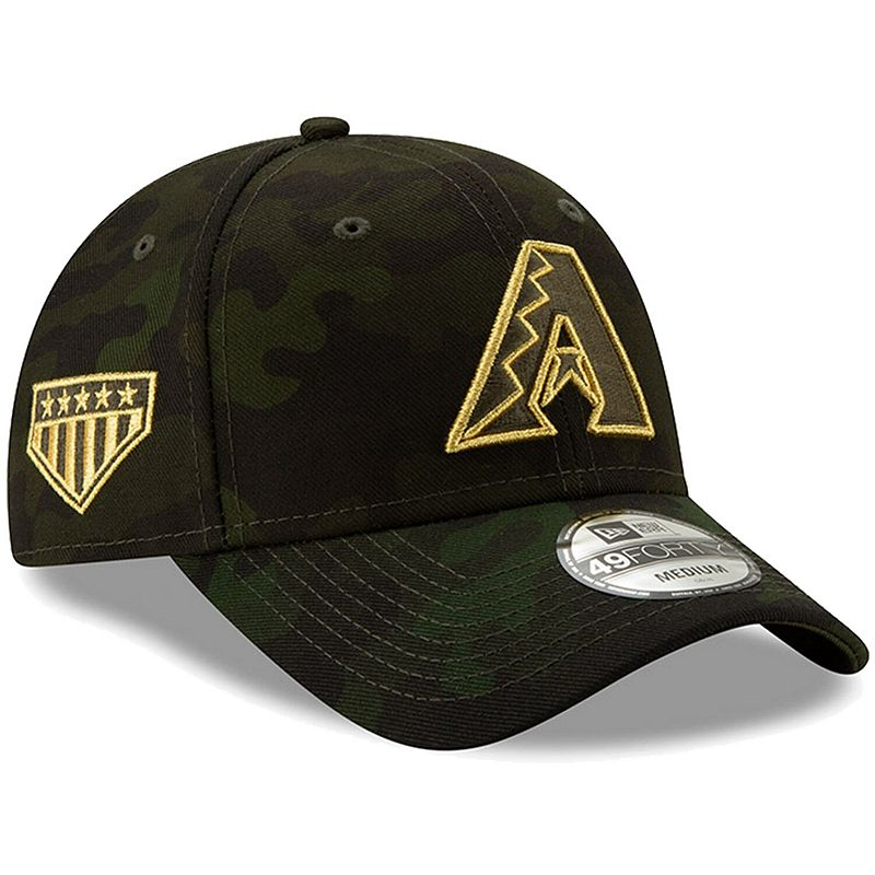 Arizona Diamondbacks New Era 2019 MLB Armed Forces Day 49FORTY Fitted Hat - Camo, Size: Large, Green