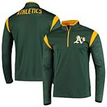 Men's Fanatics Branded Green Oakland Athletics Defender Primary Half-Zip Pullover Jacket