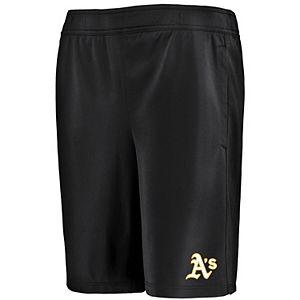 Youth Under Armour Black Oakland Athletics MK-1 Performance Shorts