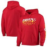 Men's Junk Food Red Kansas City Chiefs Angled Pullover Hoodie