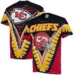 Men's Majestic Black/ Kansas City Chiefs V Tie-Dye T-Shirt