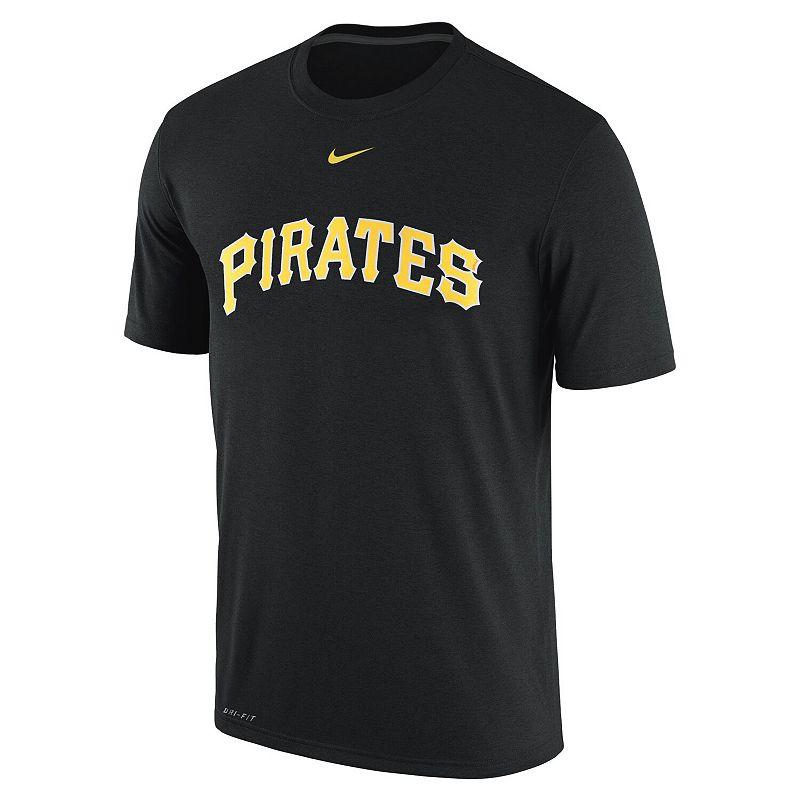 Men's Nike Black Pittsburgh Pirates Legend Logo Performance T-Shirt, Size: Small
