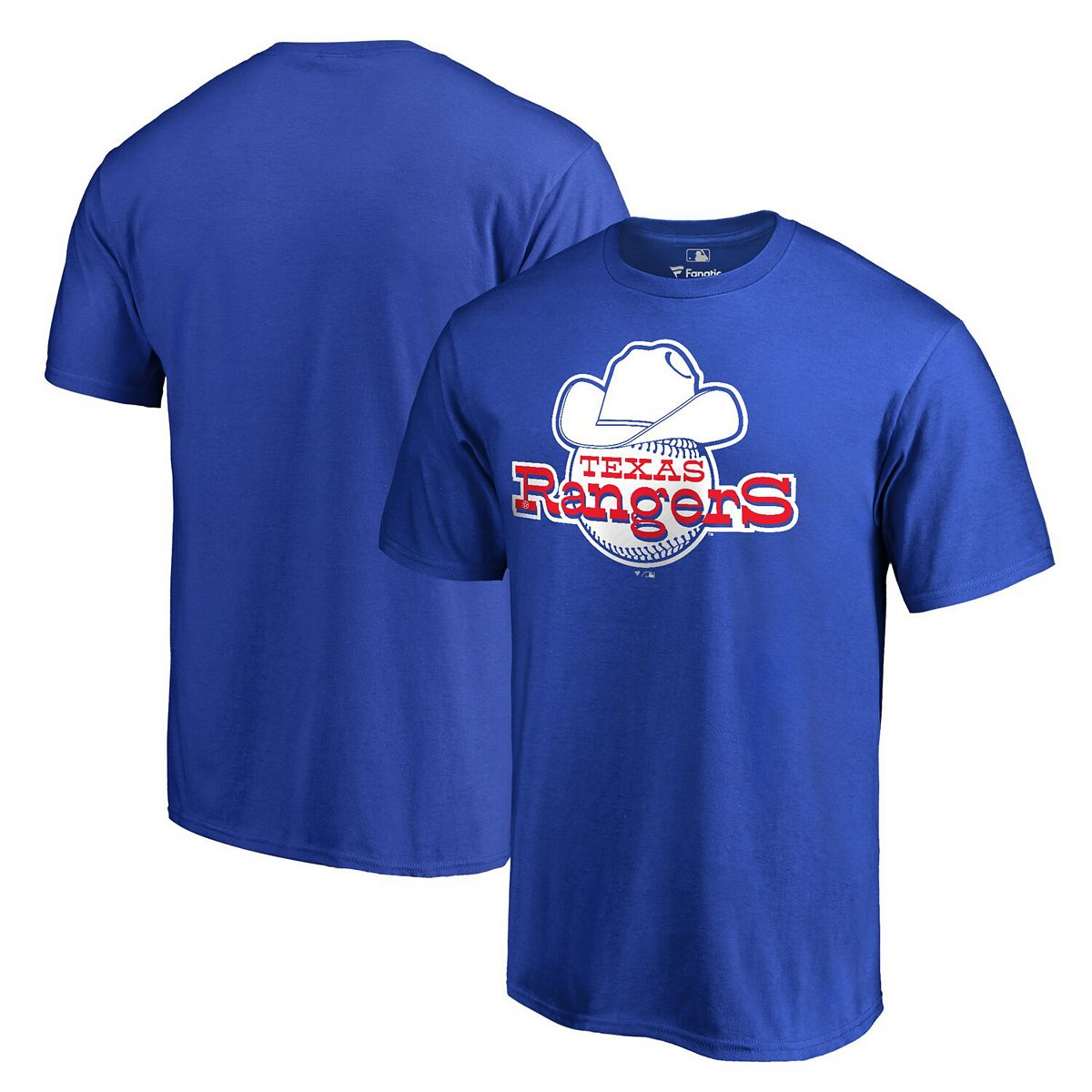 Men's Fanatics Branded Royal Texas Rangers Cooperstown Collection Forbes T-Shirt x3OkH