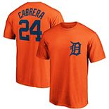 Men's Majestic Miguel Cabrera Orange Detroit Tigers Official Player Name & Number T-Shirt
