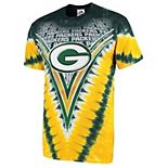 Men's Majestic Green/ Green Bay Packers V Tie-Dye T-Shirt