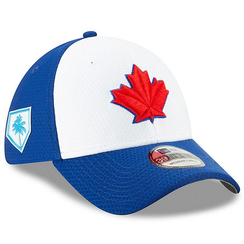 Men's New Era White/Royal Toronto Blue Jays 2019 Spring Training 39THIRTY Flex Hat, Size: Medium/Large