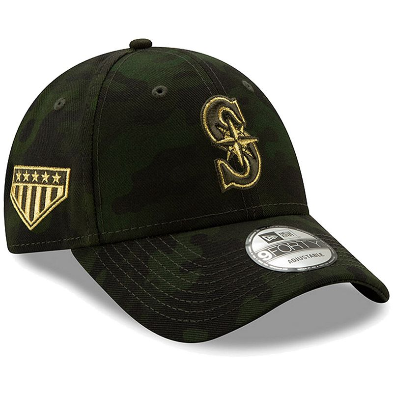 Seattle Mariners New Era 2019 MLB Armed Forces Day 9FORTY Adjustable Hat - Camo, Green