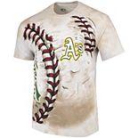 Men's Cream Oakland Athletics Hardball Tie-Dye T- Shirt