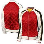 Women's WEAR By Erin Andrews Red Kansas City Chiefs Quilted Full-Zip Bomber Jacket