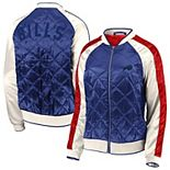 Women's WEAR By Erin Andrews Royal Buffalo Bills Quilted Full-Zip Bomber Jacket