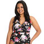Plus Size LYSA One-Piece Keyhole Tankini Swimsuit