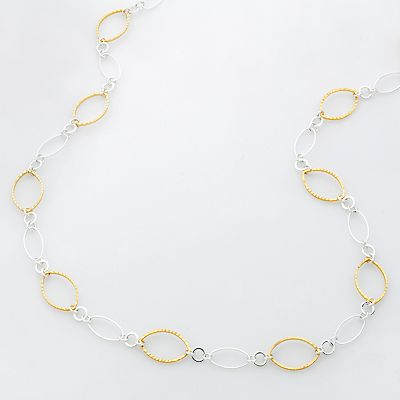 Croft and Barrow Two Tone Chain Necklace